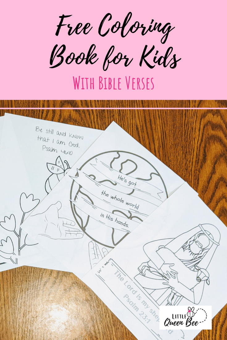 Free Kids Coloring Book with Bible Verses!