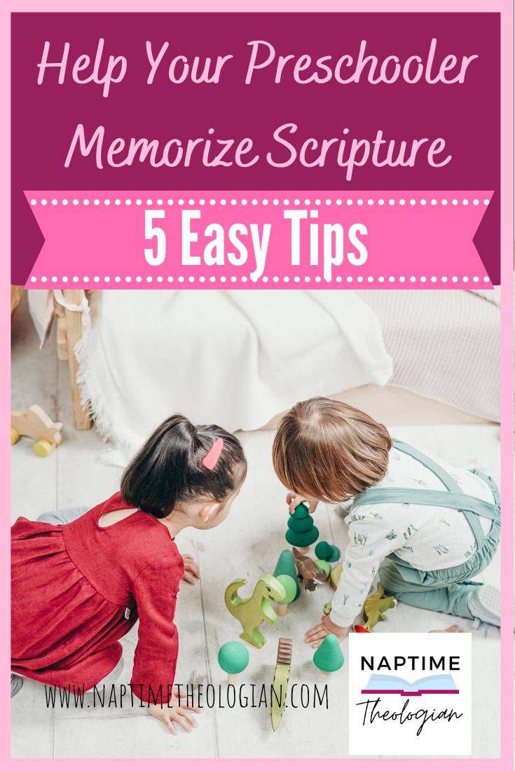 Help Your Preschooler Memorize Scripture